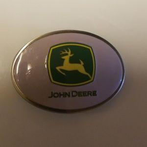 John Deere Pink Belt Buckle